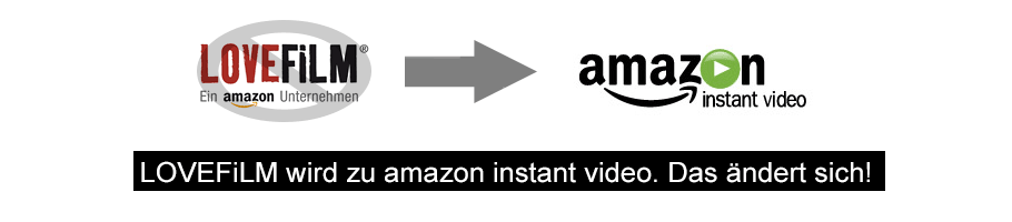 Auf LOVEFiLM wird amazon instant video