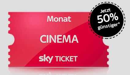 Sky Ticket Pakte zum halben Preis